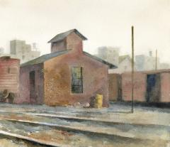 Stan Masters Coal Car Inspection Watercolor on Paper - 1392156
