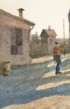 Stan Masters Coal Car Inspection Watercolor on Paper - 1392164