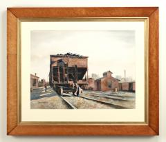 Stan Masters Coal Car Inspection Watercolor on Paper - 1392166
