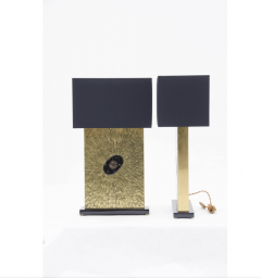 Stan Usel Pair of table lamps in mosaic brass by Stan Usel - 789987