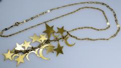 Stars and Moons Pendant Chain Necklace - 438674