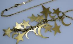 Stars and Moons Pendant Chain Necklace - 438675