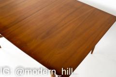 Statesville Chair Company Mid Century Walnut Surfboard Dining Table - 1869659