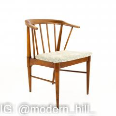 Statevilles Chair Company Mid Century Walnut Dining Chairs Set of 6 - 1869863