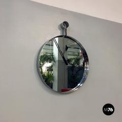 Steel circular mirror 1970s - 1968326