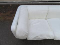Steelcase Co Fabulous Steelcase Fiberglass Leather Space Age Modern Sofa William Andrus - 1454196