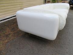 Steelcase Co Fabulous Steelcase Fiberglass Leather Space Age Modern Sofa William Andrus - 1454198
