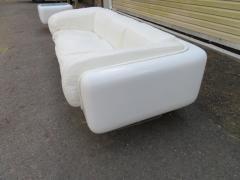 Steelcase Co Fabulous Steelcase Fiberglass Leather Space Age Modern Sofa William Andrus - 1454199