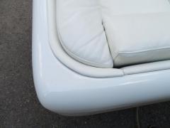 Steelcase Co Fabulous Steelcase Fiberglass Leather Space Age Modern Sofa William Andrus - 1454210