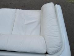 Steelcase Co Fabulous Steelcase Fiberglass Leather Space Age Modern Sofa William Andrus - 1454215