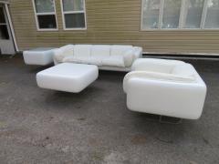 Steelcase Co Fabulous Steelcase Fiberglass Leather Space Age Modern Sofa William Andrus - 1454217