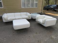 Steelcase Co Fabulous Steelcase Fiberglass Leather Space Age Modern Sofa William Andrus - 1454219