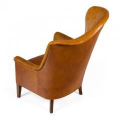 Steen Eiler Rasmussen Asymmetrical Leather Armchair for AJ Iverson Denmark 1936 - 876893