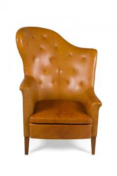 Steen Eiler Rasmussen Asymmetrical Leather Armchair for AJ Iverson Denmark 1936 - 876895