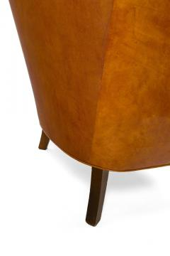Steen Eiler Rasmussen Asymmetrical Leather Armchair for AJ Iverson Denmark 1936 - 876897