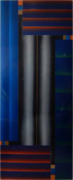 Stefan Knapp Monumental Modernist Enamel on Metal Painting by Stefan Knapp - 598793