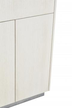 Stefan Rurak Studio Minimal 4 Door Janice Armoire Concrete White Oak and Mint Green Interior - 1093206
