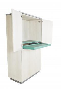 Stefan Rurak Studio Minimal 4 Door Janice Armoire Concrete White Oak and Mint Green Interior - 1093212