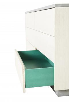 Stefan Rurak Studio Minimal 6 Drawer Janice Dresser Concrete White Oak and Mint Green Interior - 1091517