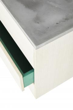 Stefan Rurak Studio Minimal 6 Drawer Janice Dresser Concrete White Oak and Mint Green Interior - 1091518