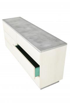 Stefan Rurak Studio Minimal 6 Drawer Janice Dresser Concrete White Oak and Mint Green Interior - 1091520