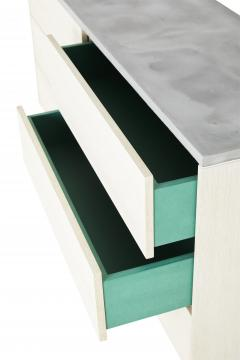 Stefan Rurak Studio Minimal 6 Drawer Janice Dresser Concrete White Oak and Mint Green Interior - 1091521