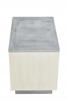 Stefan Rurak Studio Minimal Janice Side Table Concrete White Oak and Mint Green Interior - 1093285
