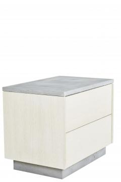 Stefan Rurak Studio Minimal Janice Side Table Concrete White Oak and Mint Green Interior - 1093286