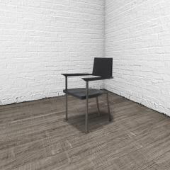 Stefan Rurak Studio Steel Chair Charred - 622207