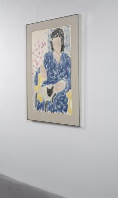 Stephen S Pace Pam in Blue Robe Cat - 1826257