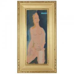 Sterling Boyd Strauser MIDCENTURY ABSTRACT FIGURE OIL PAINTING BY STERLING BOYD STRAUSER - 1046638