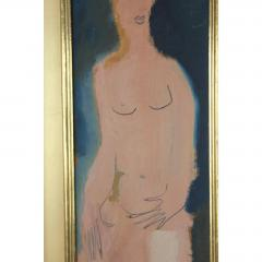 Sterling Boyd Strauser MIDCENTURY ABSTRACT FIGURE OIL PAINTING BY STERLING BOYD STRAUSER - 1046639