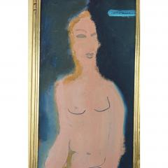 Sterling Boyd Strauser MIDCENTURY ABSTRACT FIGURE OIL PAINTING BY STERLING BOYD STRAUSER - 1046641