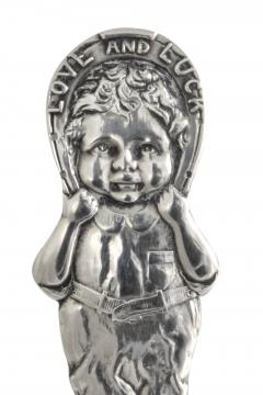 Sterling Silver 3 Piece Baby Set Pattern Love and Luck Webster 1926 - 1311313