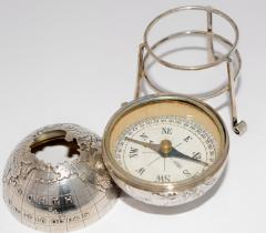 Sterling Silver World Globe Compass - 323435