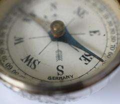 Sterling Silver World Globe Compass - 323437