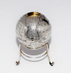 Sterling Silver World Globe Compass - 323891
