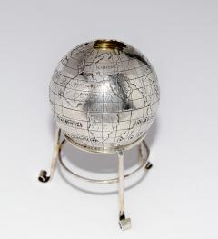 Sterling Silver World Globe Compass - 323892
