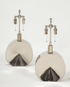 Steve Chase Pair of Chrome Lamps by Steve Chase - 1964536