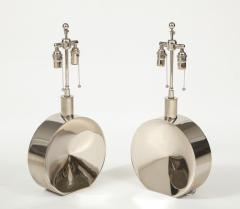 Steve Chase Pair of Chrome Lamps by Steve Chase - 1964570