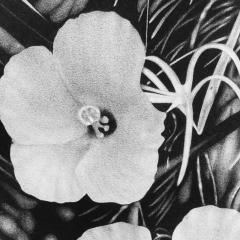 Steven Bitteroff American 20th century Flowers 5 Acrylic on canvas - 1903827