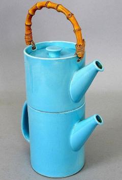 Stig Lindberg Rare 2 piece teapot LA Colorado design Stig Lindberg Gustavsberg - 1221586