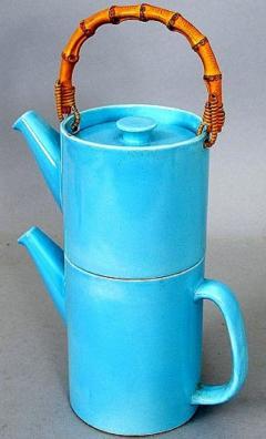 Stig Lindberg Rare 2 piece teapot LA Colorado design Stig Lindberg Gustavsberg - 1221610
