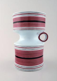 Stig Lindberg Stig Lindberg Gustavsberg Faience jug vase with hand painted decoration - 1221472