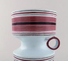 Stig Lindberg Stig Lindberg Gustavsberg Faience jug vase with hand painted decoration - 1221503