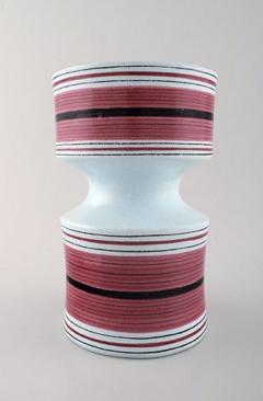 Stig Lindberg Stig Lindberg Gustavsberg Faience jug vase with hand painted decoration - 1221505