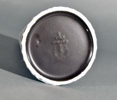 Stig Lindberg Stig Lindberg Stoneware Conical Vase Domino Series Black White - 1617646