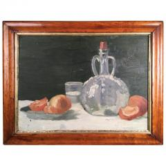 Still Life Oranges and Bottle Oil on Board - 1039546