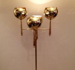 Stilnovo Style Solid Brass Pierced Shade 1950s Standing Lamp - 104447