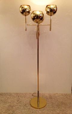 Stilnovo Style Solid Brass Pierced Shade 1950s Standing Lamp - 104448